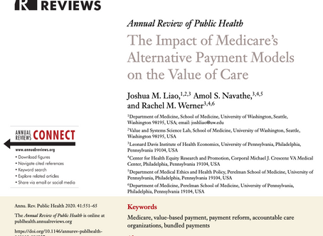 Review: Impact of Medicare's Alternative Payment Models on the Value of Care