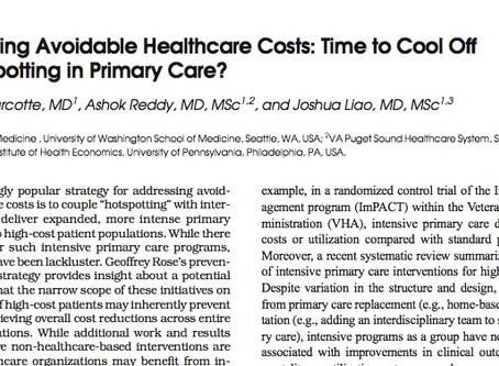 """Publication: Time to """"Cool Off"""" on Hotspotting in Primary Care?"""