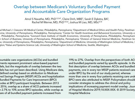 Publication: Overlap between Voluntary Bundled Payments and Accountable Care Organizations
