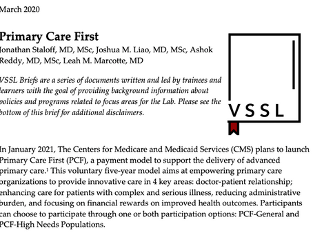 Payment Model Brief: Primary Care First