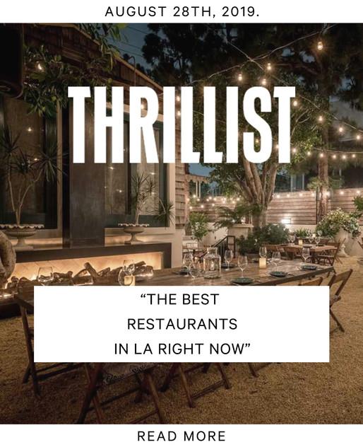 Thrillist Press - Fia Restaurant Los Angeles California