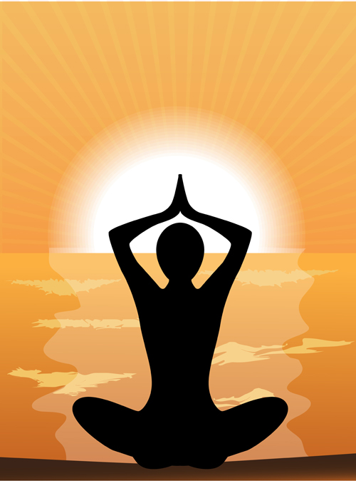Meditation-design-elements-vector-graphi