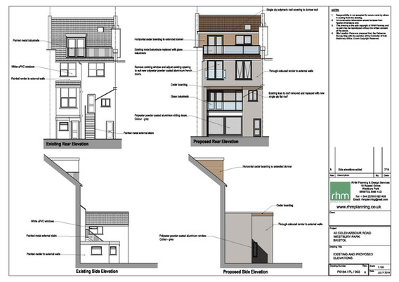 Proposed rear extension and alterations.