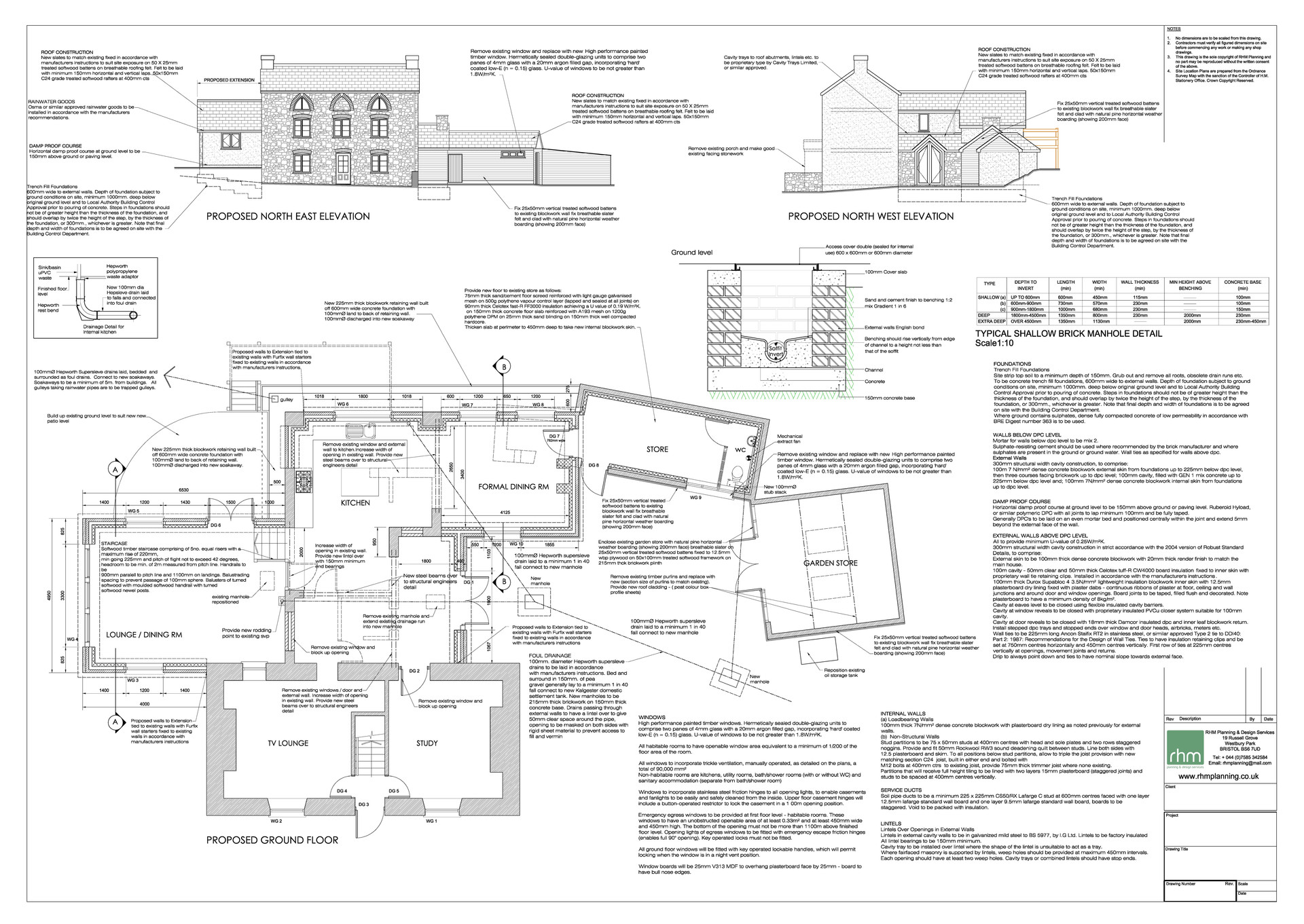 BUILDING REGULATION DRAWING [Example 001