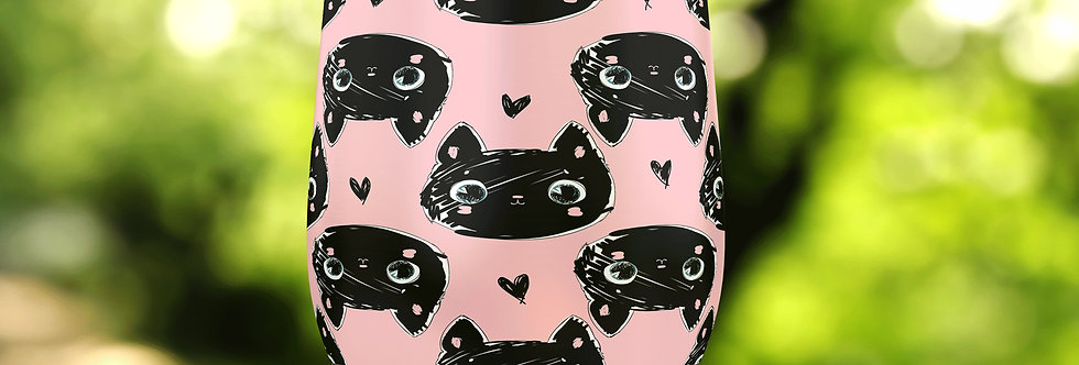 Pink Cats 12oz Stainless Steel Tumbler