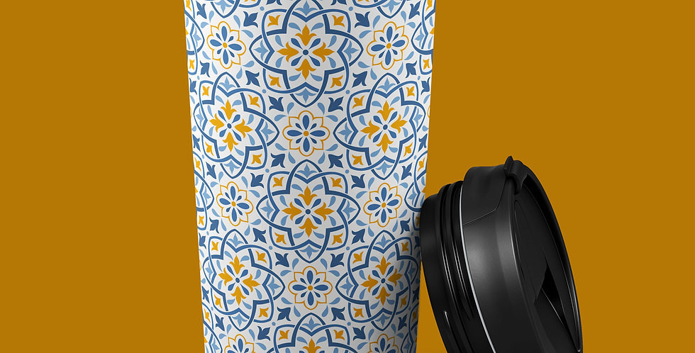 Baroque Tile 15oz Stainless Steel Tumbler