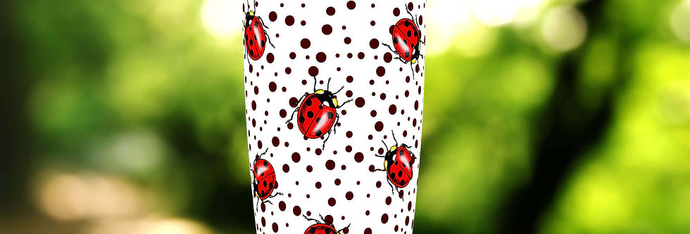 Polka Dot Ladybug 20oz Tumbler