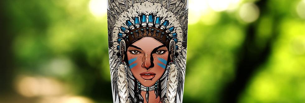 Native Indian Princess 20oz Tumbler