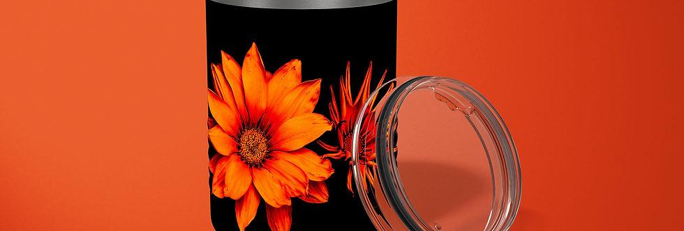 Orange Sunflower 10oz Stainless Steel Tumbler