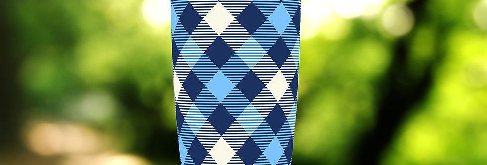 Checkered Blue Plaid 20oz Tumbler