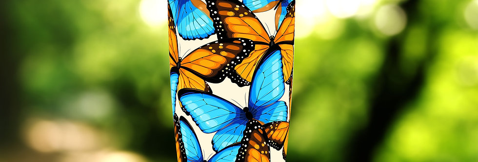 Blue and Orange Butterflies 20oz Tumbler
