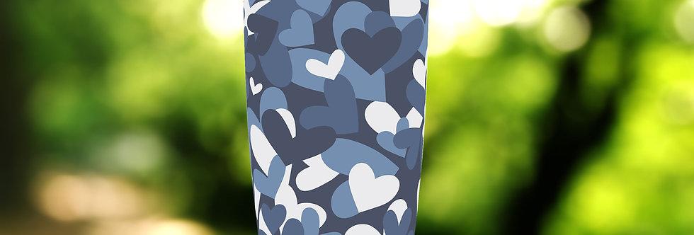 Camo Blue Hearts 20oz Tumbler