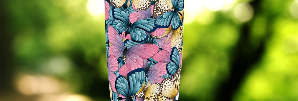 Pink-N-Blue Butterfly Hive 20oz Tumbler