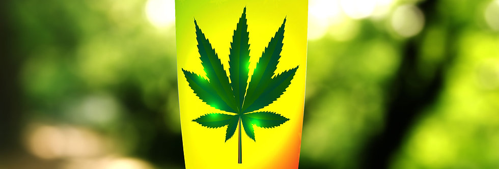 Yellow Cannabis 20oz Tumbler