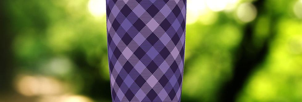Purple Plaid 20oz Tumbler