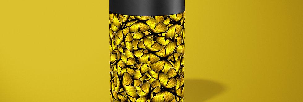 Yellow Butterflies Beer Can Holder
