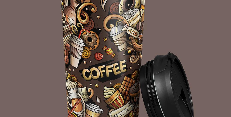 Coffee Mania 15oz Stainless Steel Tumbler