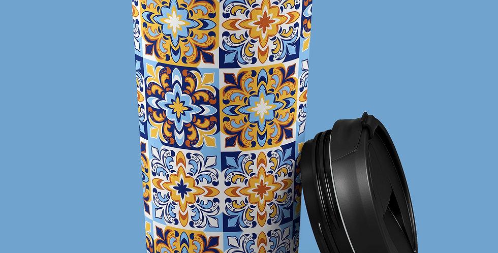 Italian Tile 15oz Stainless Steel Tumbler