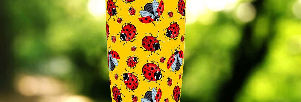 Yellow Ladybug 20oz Tumbler