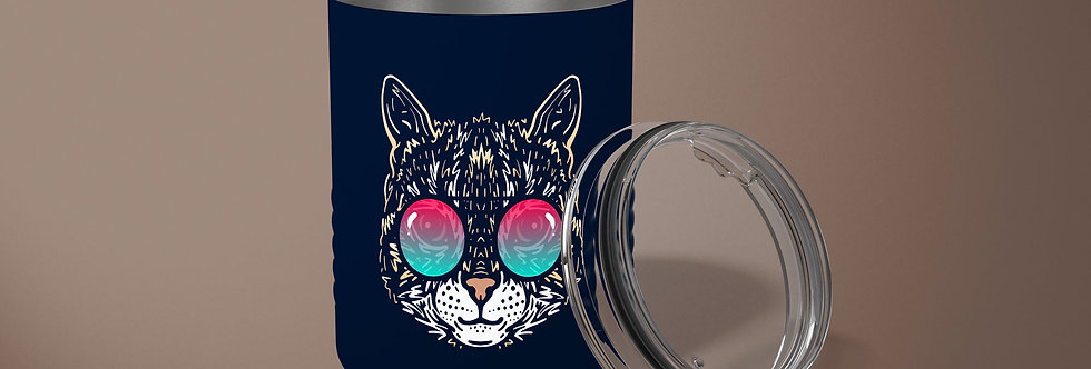 Cat 10oz Stainless Steel Tumbler