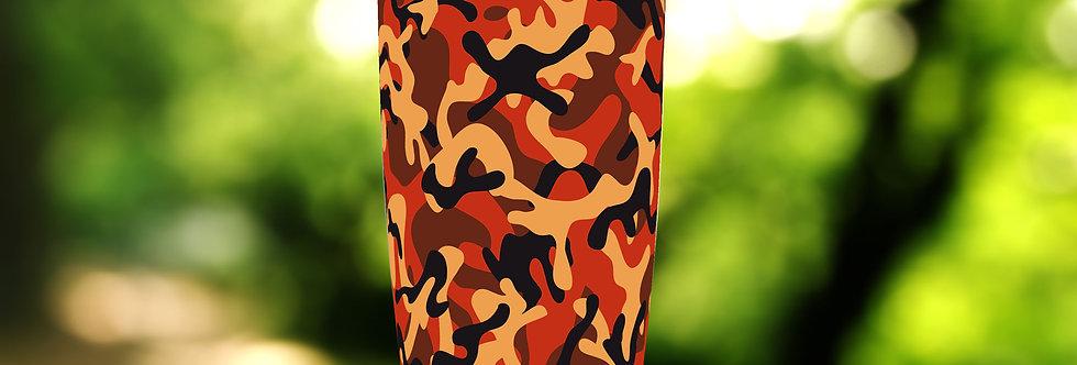 Camo Red Orange 20oz Tumbler