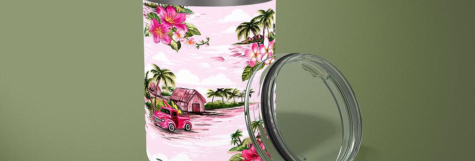 Pink Hawaiian 10oz Stainless Steel Tumbler