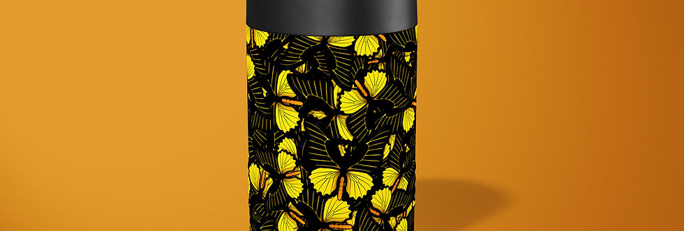 Butterfly Yellow Hive Beer Can Holder