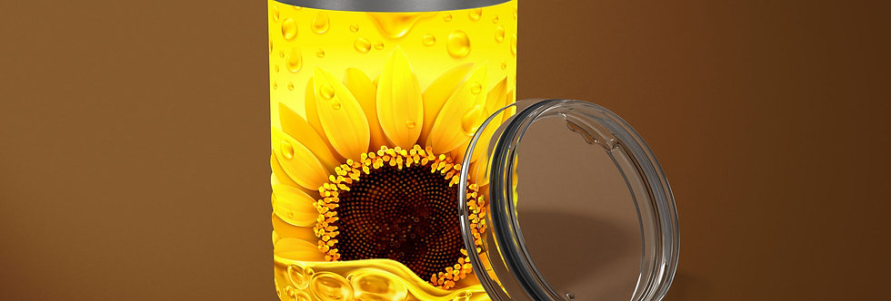 Sunflower Drip 10oz Stainless Steel Tumbler
