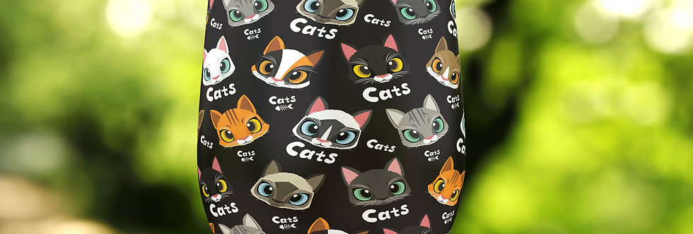 Cat Faces II 12oz Stainless Steel Tumbler