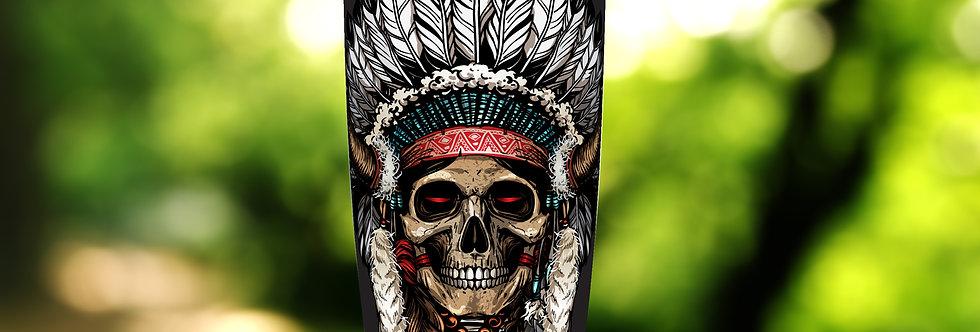 Native Indian Skull Warrior 20oz Tumbler