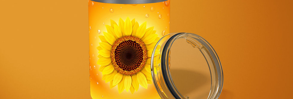 Sunflower 10oz Stainless Steel Tumbler