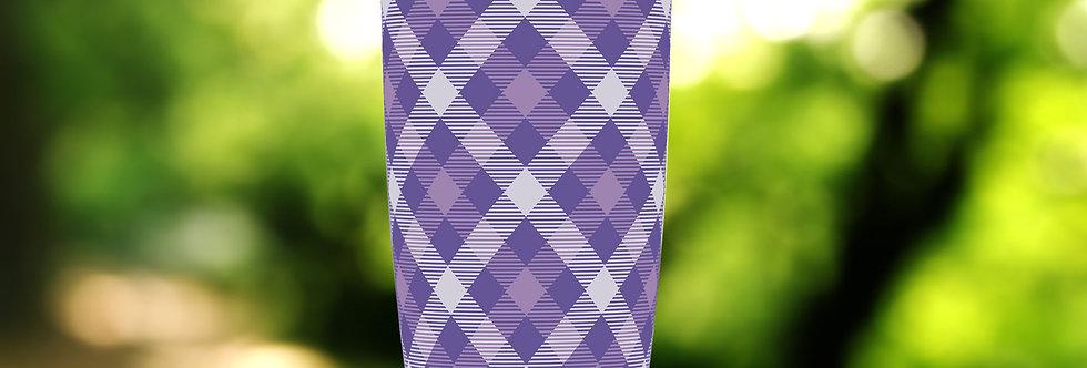 X Purple Plaid 20oz Tumbler