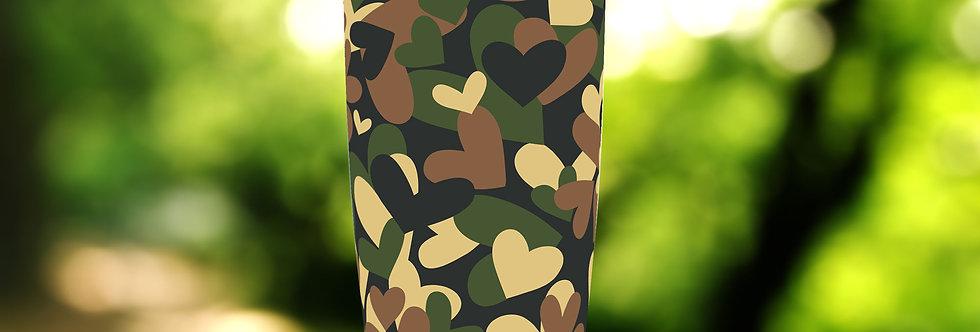 Camo Army Hearts 20oz Tumbler