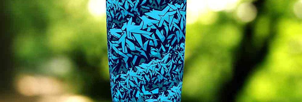 Graffiti Blue Tag 20oz Tumbler