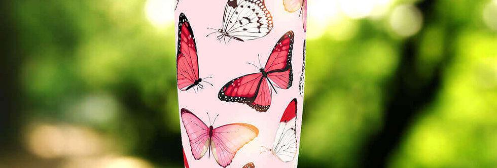 Pink Butterflies 20oz Tumbler