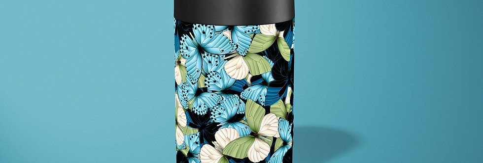 Blue Butterfly Hive Beer Can Holder