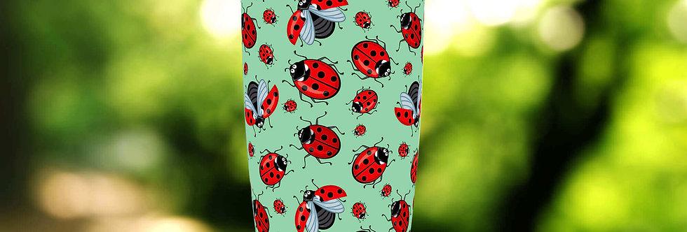 Green Ladybug Drops 20oz Tumbler