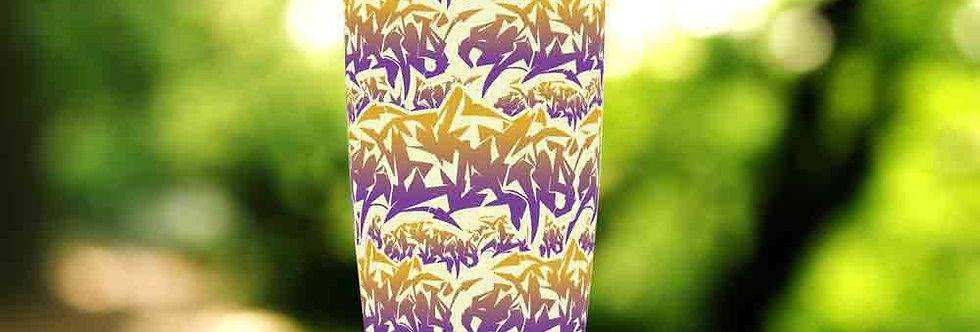 Graffiti Purple Tag 20oz Tumbler