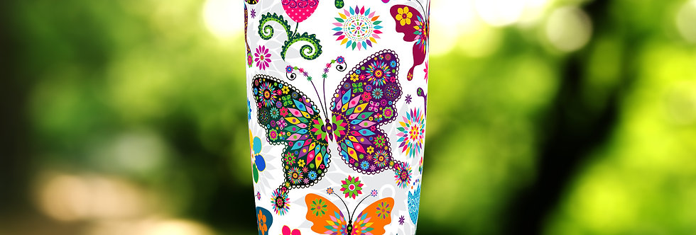 Hippie Butterfly 20oz Tumbler