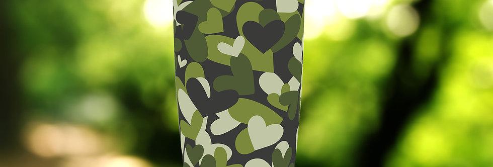 Camo Green Hearts 20oz Tumbler