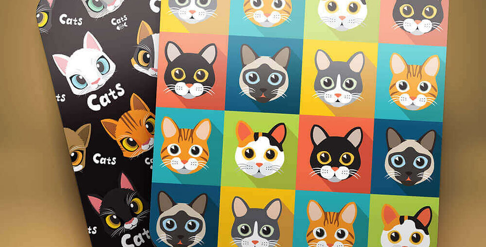 Cats Mugshots Drink Coasters (Set of 4)