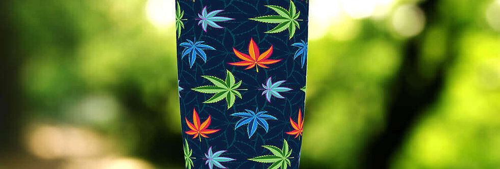 Blue Cannabis 20oz Tumbler