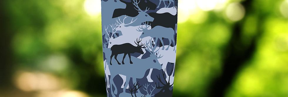 Camo Blue Deer 20oz Tumbler
