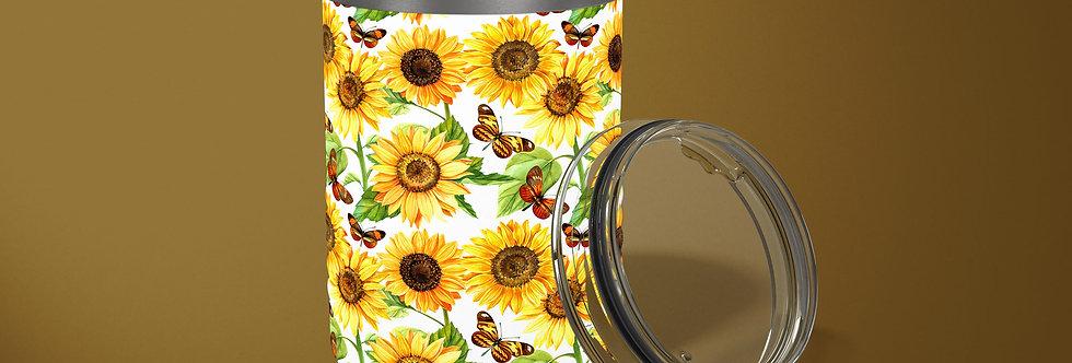 Sunflowers 10oz Stainless Steel Tumbler