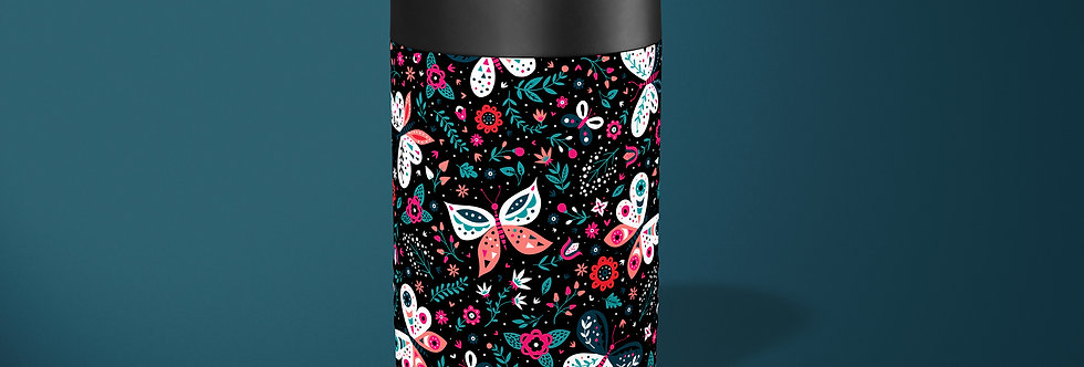 Butterfly Floral Beer Can Holder