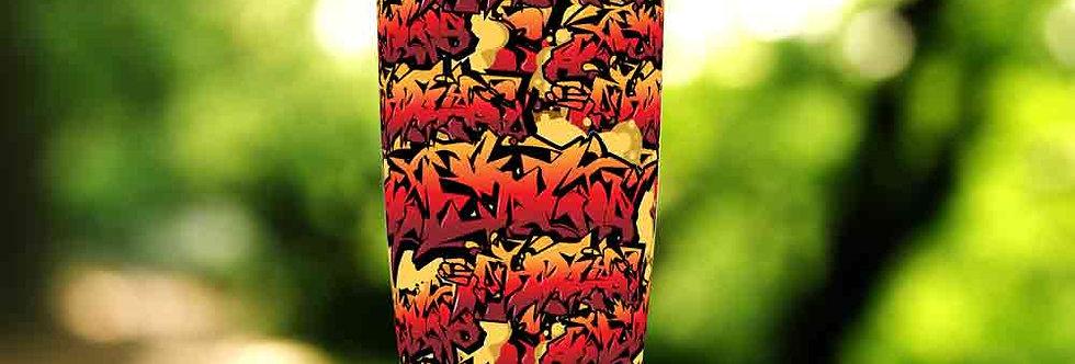 Graffiti Orange Tag 20oz Tumbler