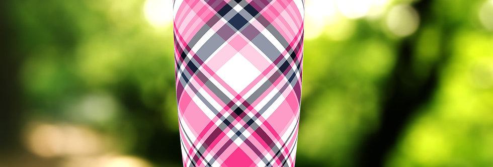 Pink Tartan III Plaid 20oz Tumbler