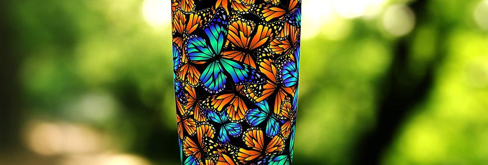 Orange Blue Butterfly 20oz Tumbler