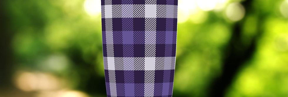 Checkered Purple Plaid 20oz Tumbler