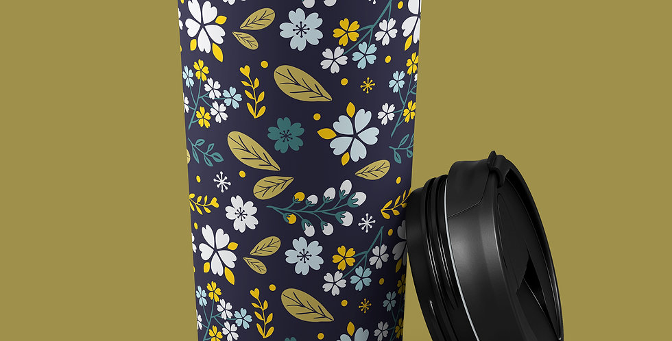 Floral Melody 15oz Stainless Steel Tumbler